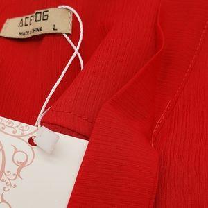 Acevog Tops - Chiffon Blouse Long Sleeves